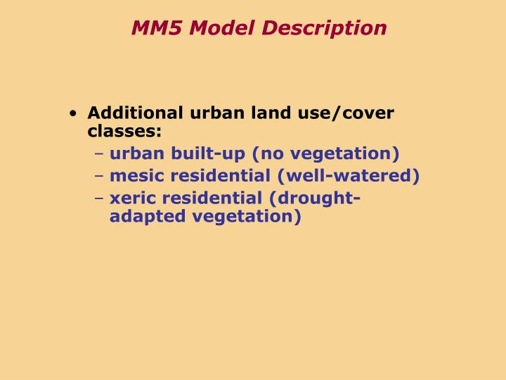MM5 Model Description