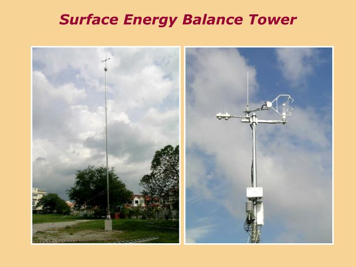 Surface Energy Balance Tower