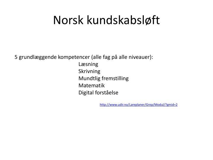 Norsk kundskabsløft