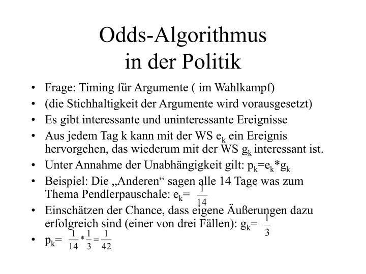 Odds-Algorithmus