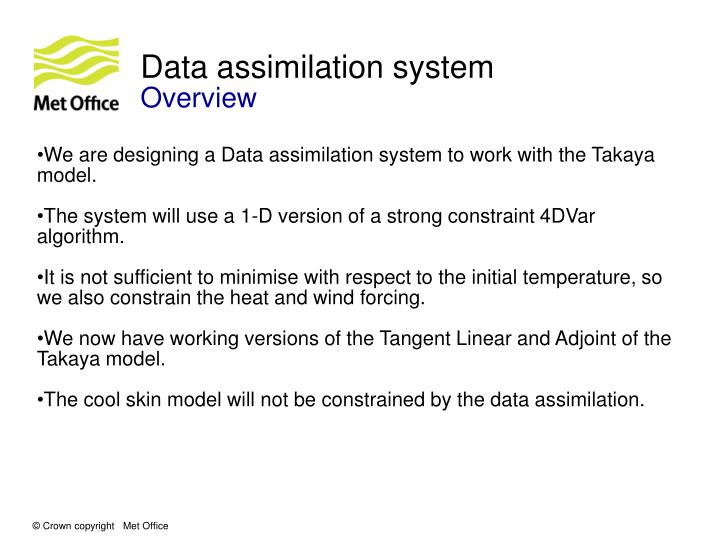 Data assimilation system
