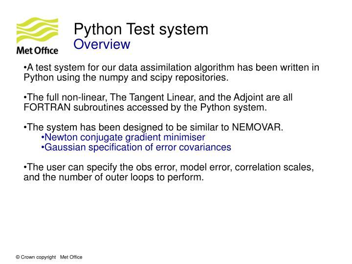 Python Test system