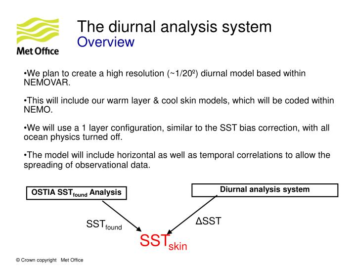 The diurnal analysis system