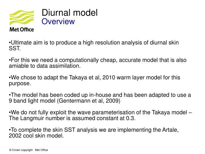 Diurnal model