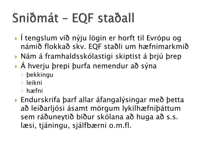 Sniðmát – EQF staðall