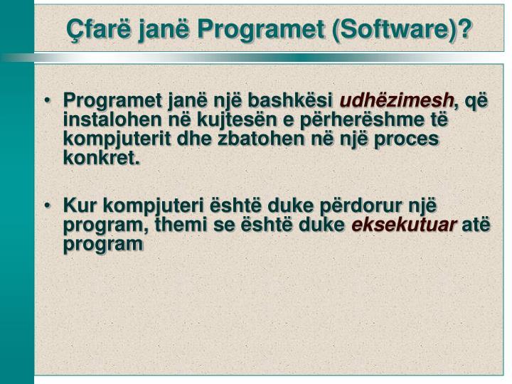 Programet janë një bashkësi