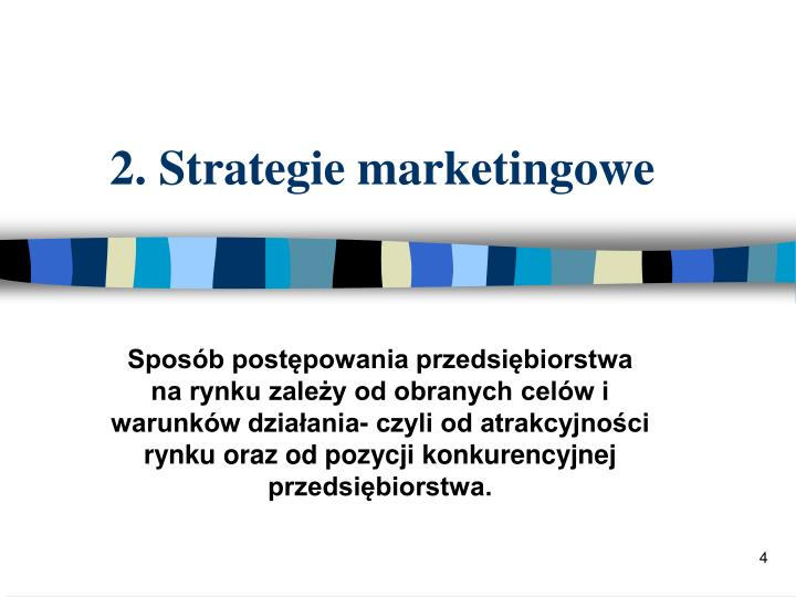 2. Strategie marketingowe