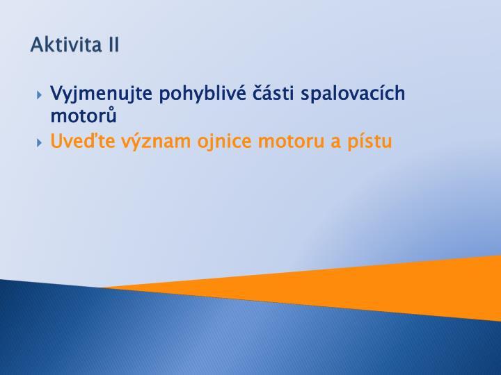 Aktivita II