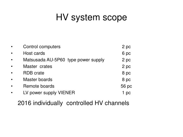 Hv system scope