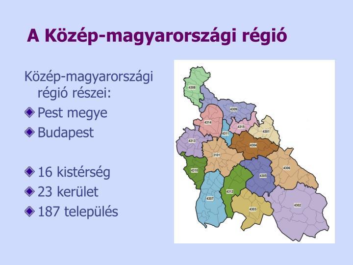 A Közép-magyarországi régió