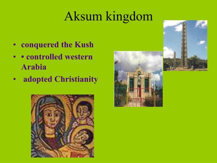 Aksum kingdom