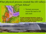 what physical process created the rift valleys of east africa