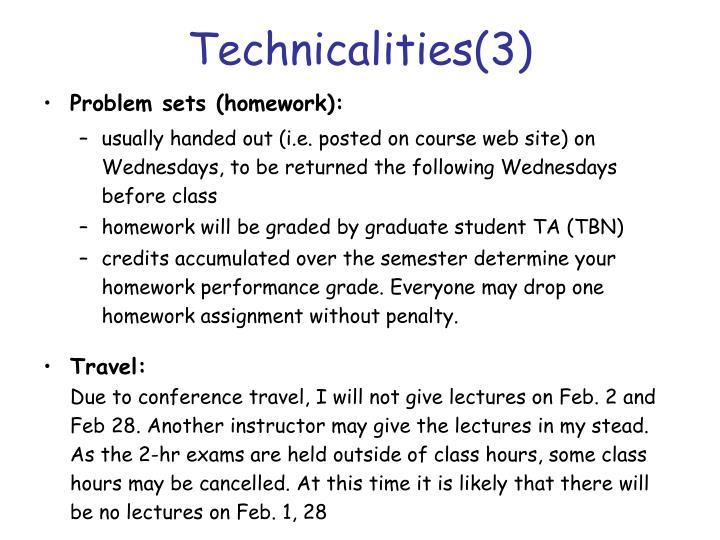 Technicalities(3)