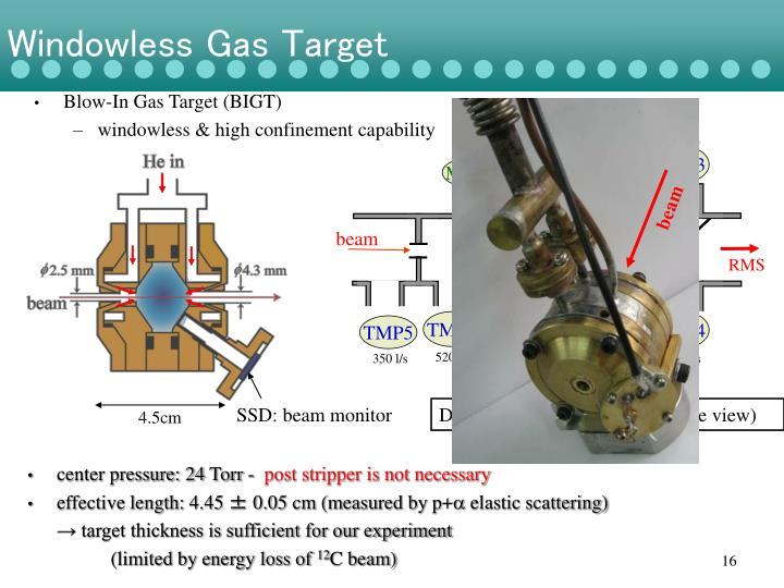 Windowless Gas Target