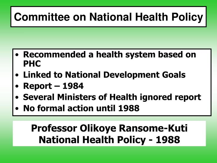 Committee on National Health Policy