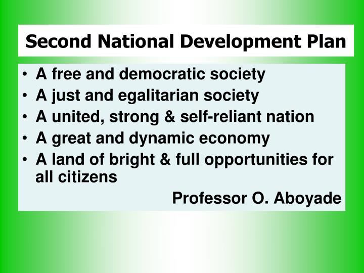 Second National Development Plan