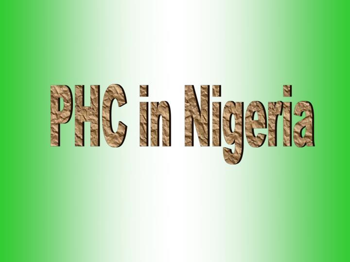 PHC in Nigeria