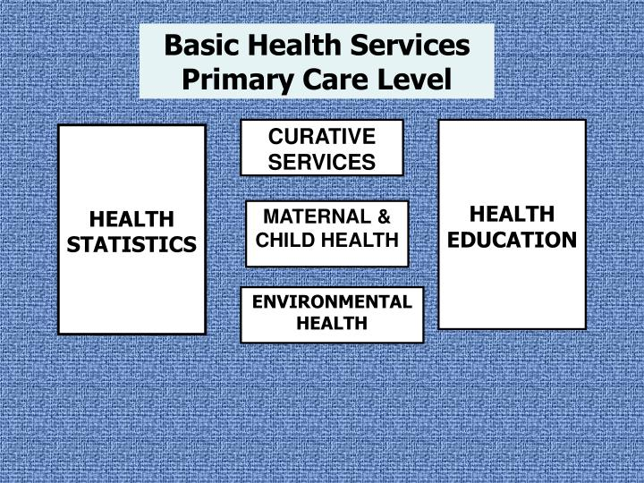 Basic Health Services Primary Care Level