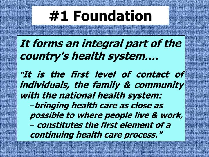 #1 Foundation