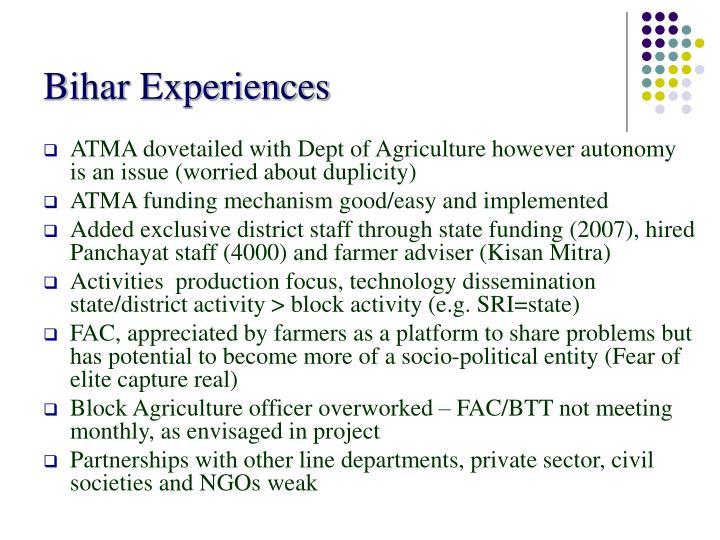 Bihar Experiences