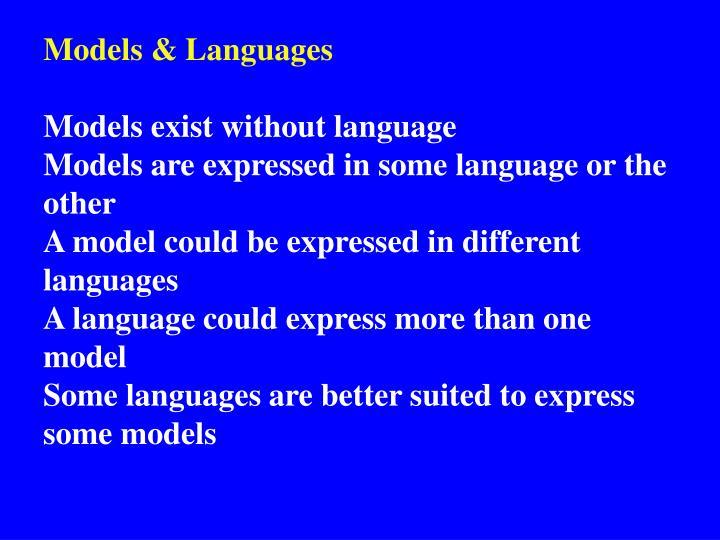 Models & Languages