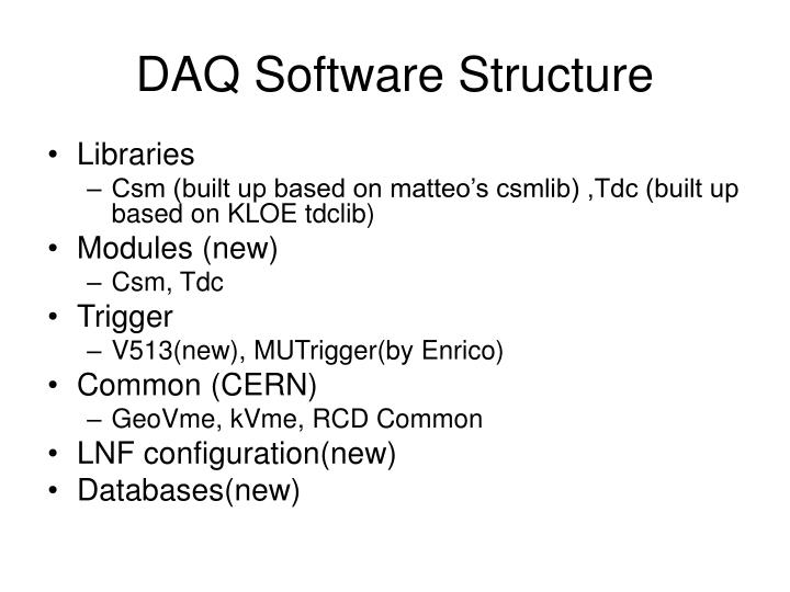 DAQ Software Structure