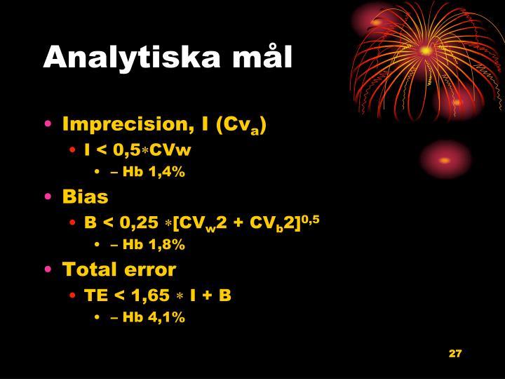 Analytiska mål