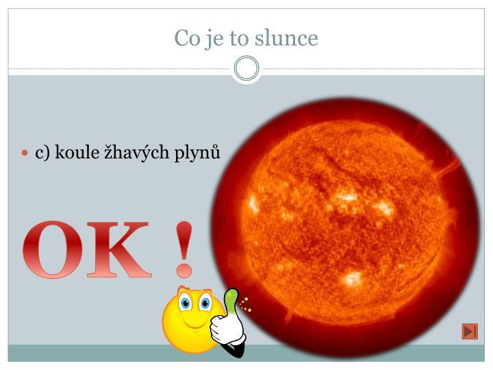 Co je to slunce