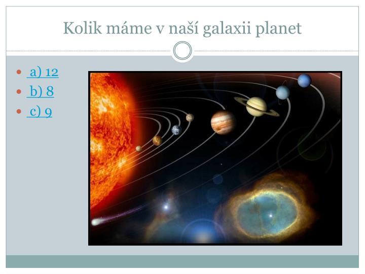 Kolik máme v naší galaxii planet