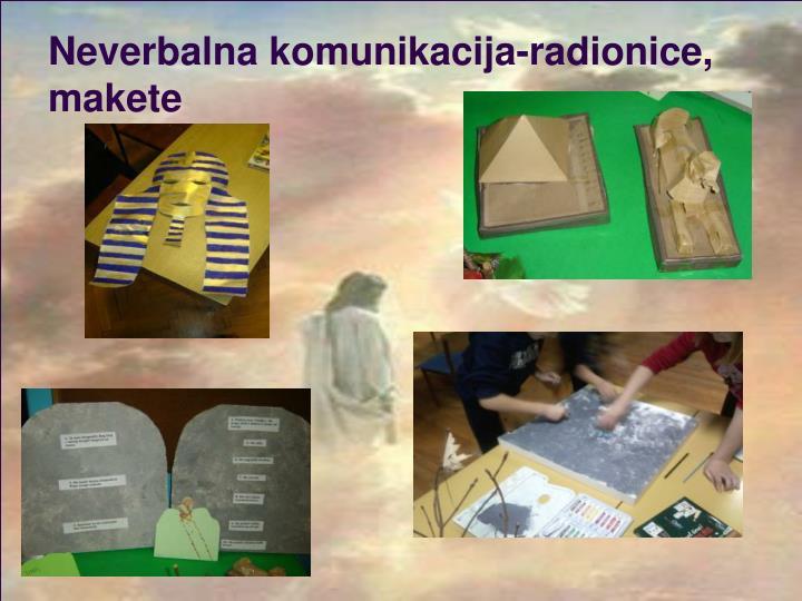Neverbalna komunikacija-radionice, makete
