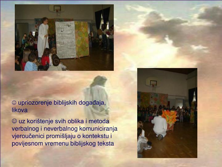upriozorenje biblijskih događaja, likova