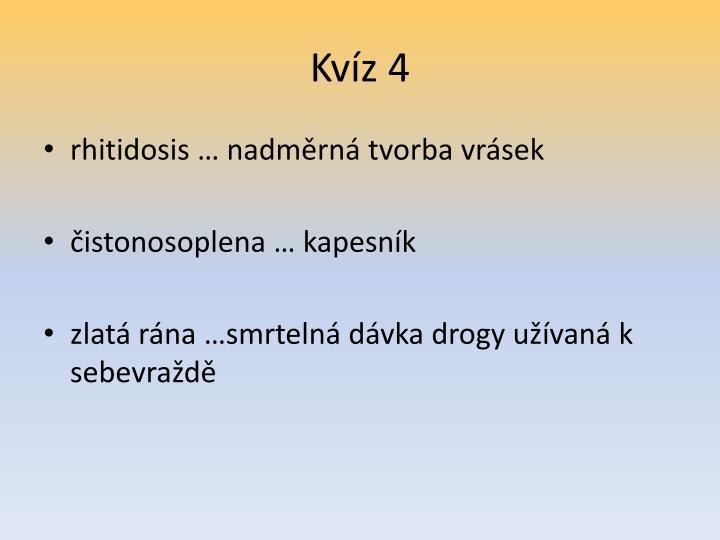 Kvíz 4
