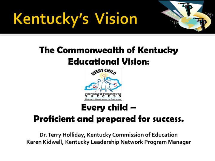 Kentucky's  Vision