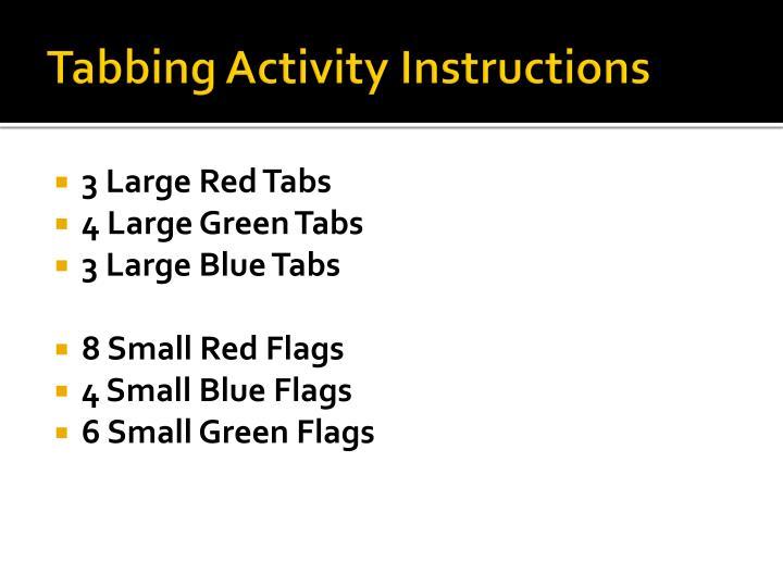 Tabbing Activity Instructions