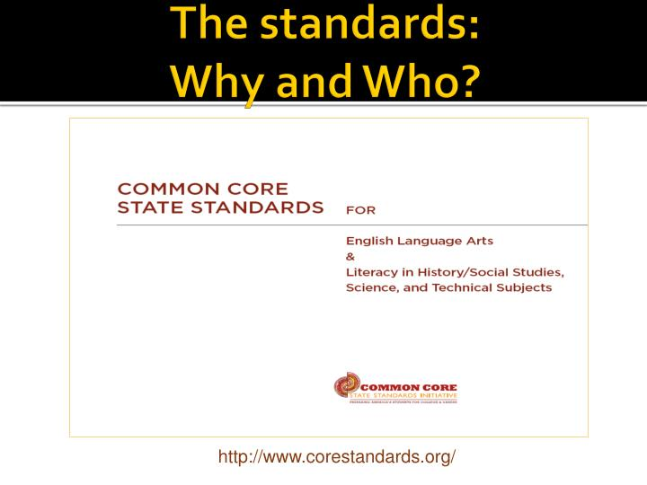 The standards:
