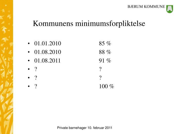 Kommunens minimumsforpliktelse