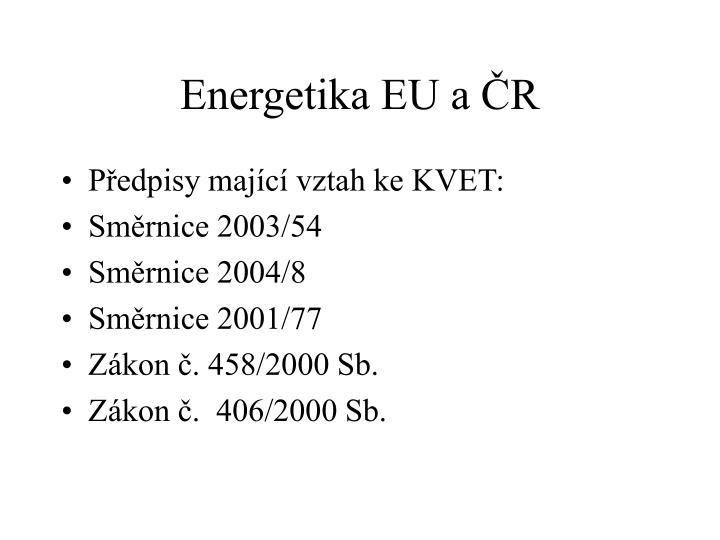 Energetika EU a ČR