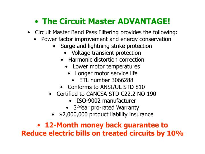 The Circuit Master ADVANTAGE!