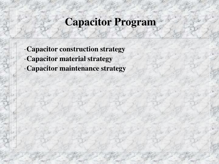 Capacitor Program