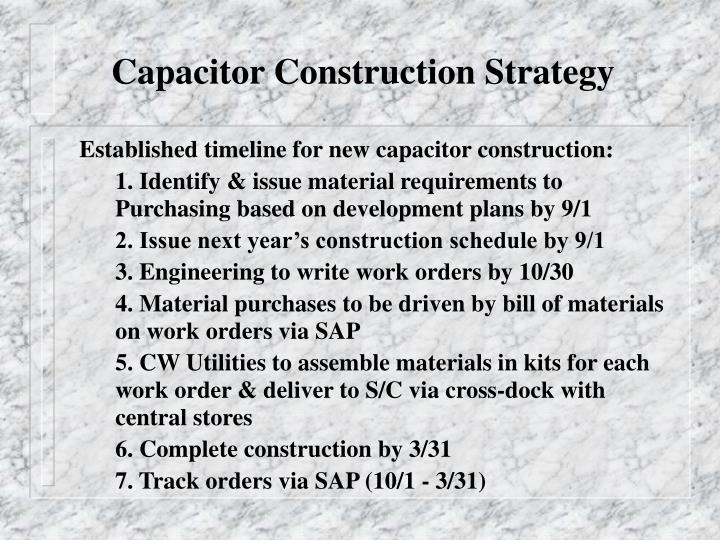 Capacitor Construction Strategy