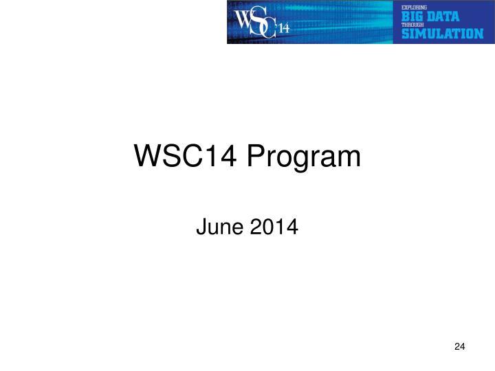 WSC14 Program