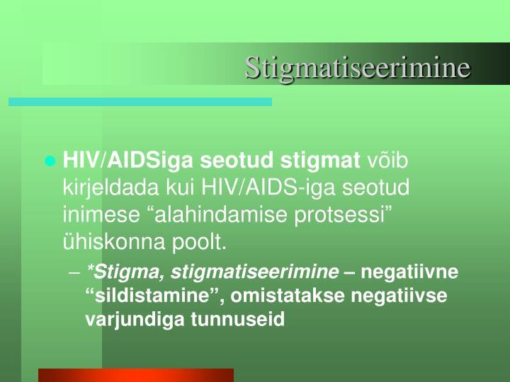 Stigmatiseerimine