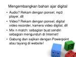 mengembangkan bahan ajar digital