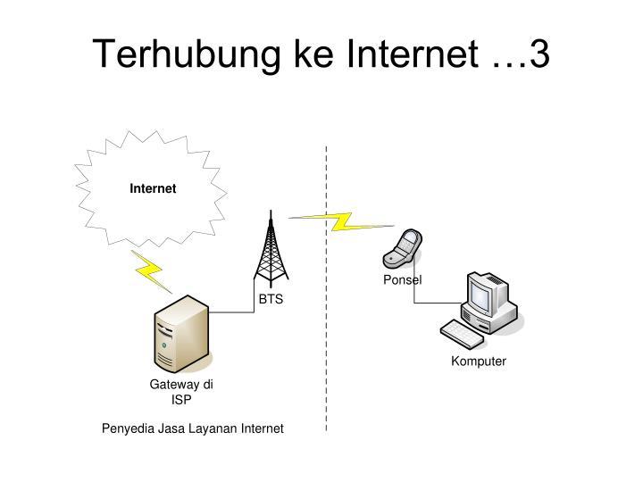 Terhubung ke Internet …3