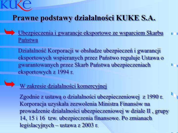 Prawne podstawy działalności KUKE S.A.