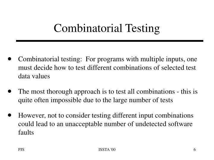 Combinatorial Testing