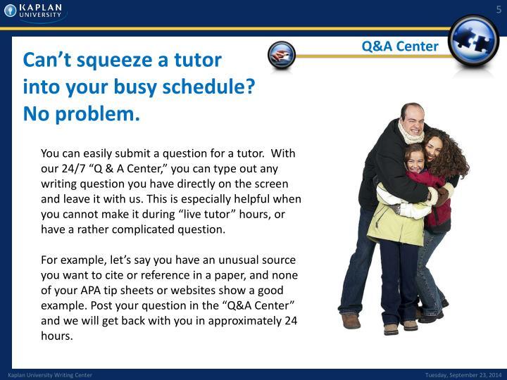 Q&A Center