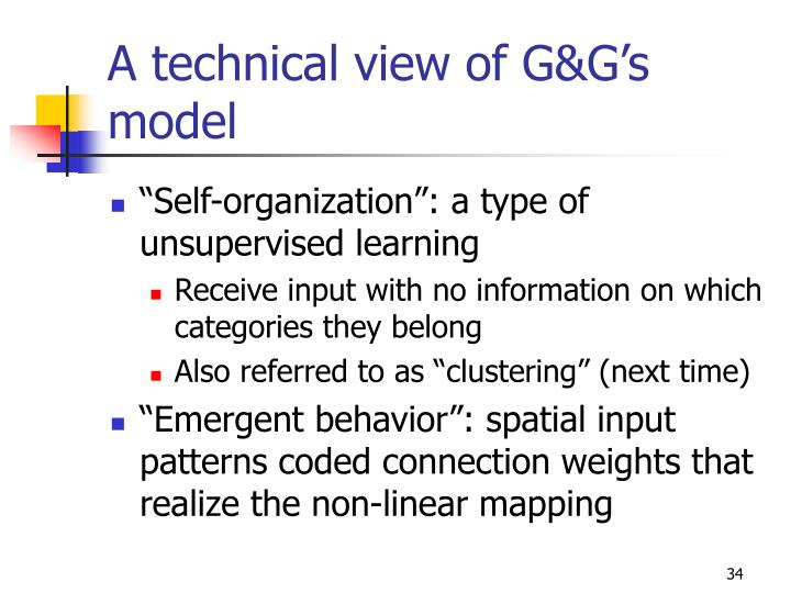 A technical view of G&G's model