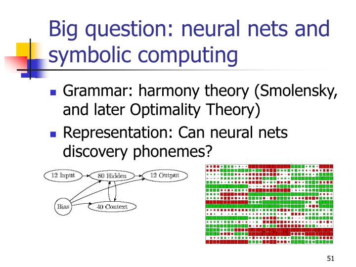 Big question: neural nets and symbolic computing