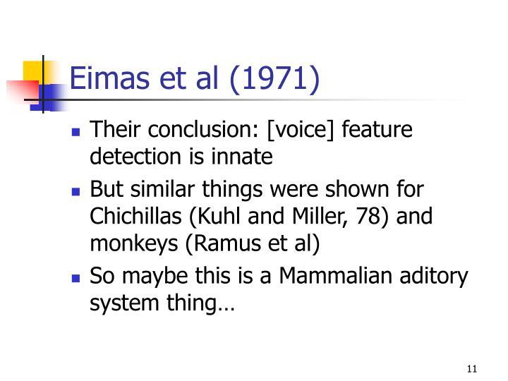 Eimas et al (1971)